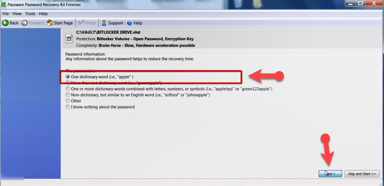 passware password recovery kit forensic bitlocker