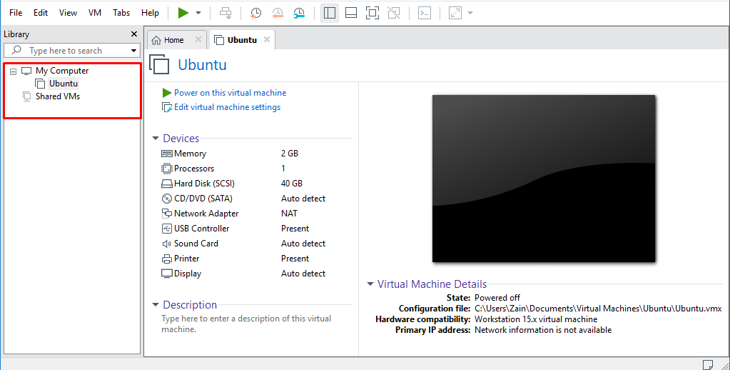 VMware virtual machine